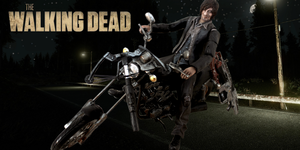 The Walking Dead Daryl Dixon with Motorcycle by SomethingGerman
