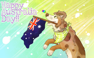 Happy (late) Australia Day!! by DogFwish
