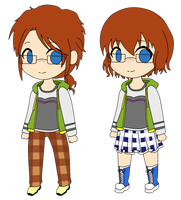 [HETALIA OC] Guernsey and nyo!Guernsey by Hide25