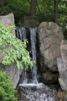 Japanese Gardens Waterfall by Lufca