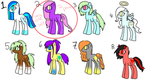 5 point Pony adoptables CLOSED by efflorish