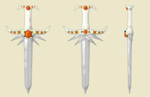 Excalibur Short Sword Design by fritchie