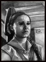 -The last breath- Amidala Graphite drawing by AngelinaBenedetti
