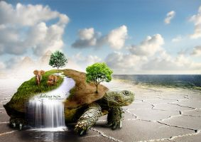 Fantasy World - Turtle of Life by HelenaMim