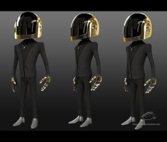 Guy-Manuel - DaftPunk by ChaosSight