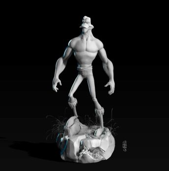 Duck Barbarian 3D by CamaraSketch