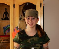 Me in army style clothes by Haileym2000