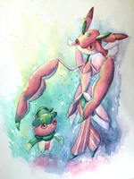 Lurantis and Fomantis