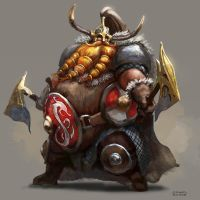 Torbjorn the Irongut by conorburkeart