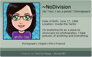 My Deviant ID by NoDivision