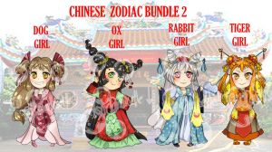 CHINESE_ZODIAC_ADOPTS2_OPEN!! by NoirDamiselle