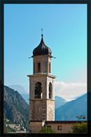 Church tower Limone sul Garda by deaconfrost78