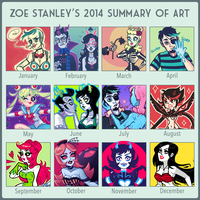2014 Summary of Art by ZoeStanleyArts