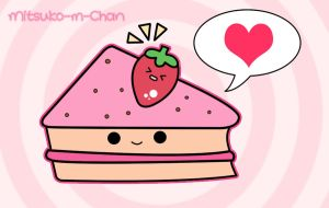 Kawaii Love Cake by Mitsuko-m-Chan