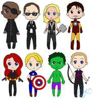 Mini Avengers by samdoll123