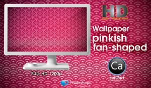 Wallpaper Pinkish fan-shaped by CaHilART