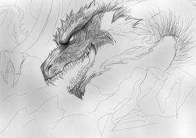 Chris scalf dragon by SunsetDragonfly