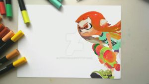 Splatoon  Fanart with markers 01 by NitroRex