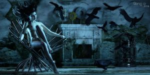 The Crow is a Singing Bird by SenZzo-art