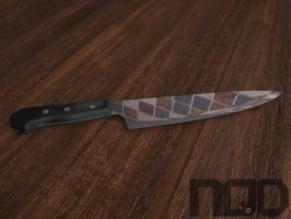 A knife in kitchen. by MrBigBusiness