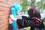 Hatsune and Zatsune - What the hell are you doing? by tiny-Hetalian-turtle