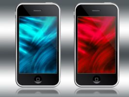 iPhone iTouch Red Cyan Waves by x986123
