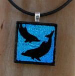 Dolphins Fused Glass by FusedElegance