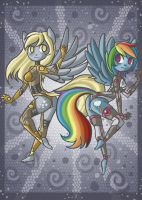 Derpy x Rainbowdash by raptor007