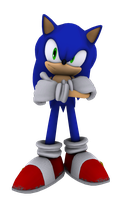 I'm waiting... (SonicHigh3D Contest Entry) by KnightShroudG