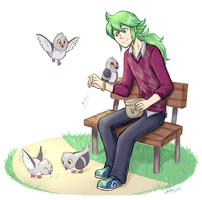 feed the pidoves by firehorse6