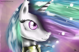 Princess Celestia Portrait by Gusteaureeze