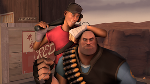 TF2 heavy and scout by Uglehs
