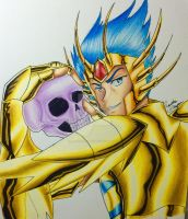 DeathMask and his firend-Colored by RenataGaspar
