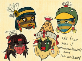 The four sons of the primitive pair by LajosJancsi