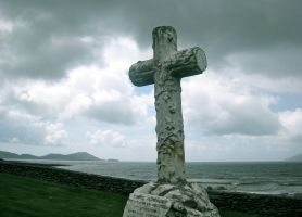 Cross on a Windy Shore by LesleyanneD