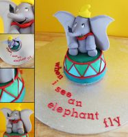 Dumbo Cake by cakecrumbs