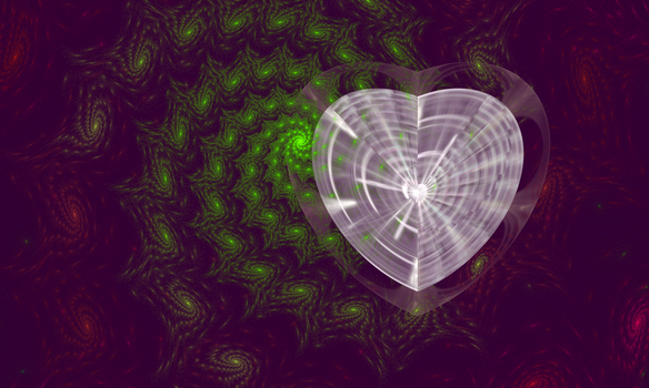 Diamond Heart and Green Spiral Galaxy by FlyingMatthew