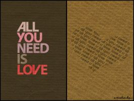 All you need is Love. by ameliacarys