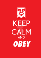 KEEP CALM AND OBEY by Jon-Wood
