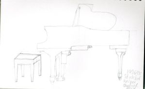 Piano Drawing by Mew-Universe