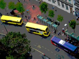 Bournemouth Yellow Buses by DanBoldy