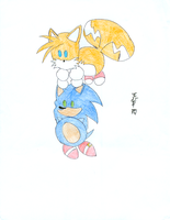 Chibi Sonic and Tails 2 by wang-huachen