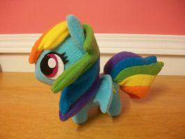 Rainbow Dash Chibi Pony MLP FIM by happybunny86