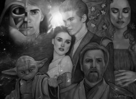 Star Wars characters by JabberjayArt