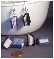 Ex Libris Earrings by Glori305
