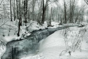 A brook in winter by Pajunen