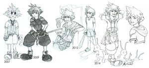 Sora Through the Years by Mirrade