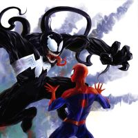 Spidey VS Venom by Layerx3