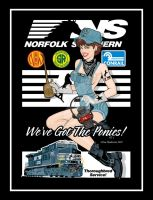 Norfolk Southern Pin-Up by yankeedog
