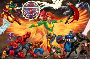 avengers vs xmen by belgerles